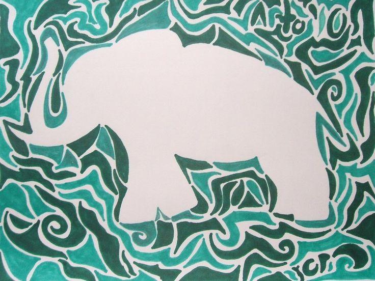 Implied Line defines this Elephant Shapehttp://fc02.deviantart.net/fs71/i/2010/200/1/6/Implied_Lines___Elephant_by_Skurdy.jpg