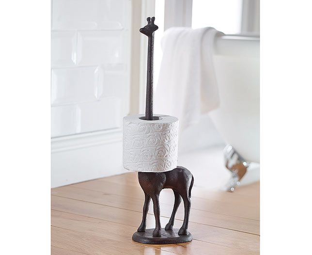 Gone are the days of the dancing lady loo roll cover. Modern times call for something much more classy in the cloakroom. This lovely giraffe is full of character