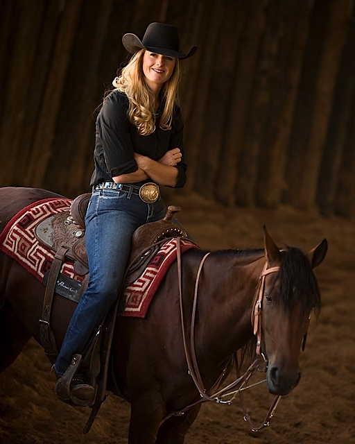 Professional's Choice endorser and mustang trainer, Wylene Wilson.