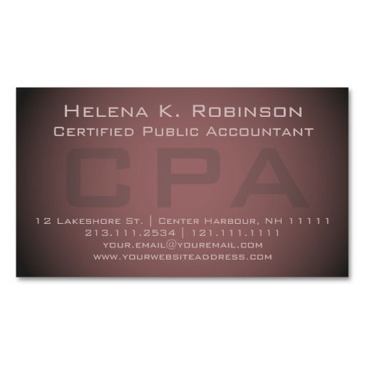210 best images about accountant business cards on for Cpa business card examples