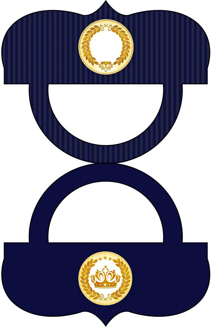 Saquinho de Balas Coroa Príncipe Azul Marinho