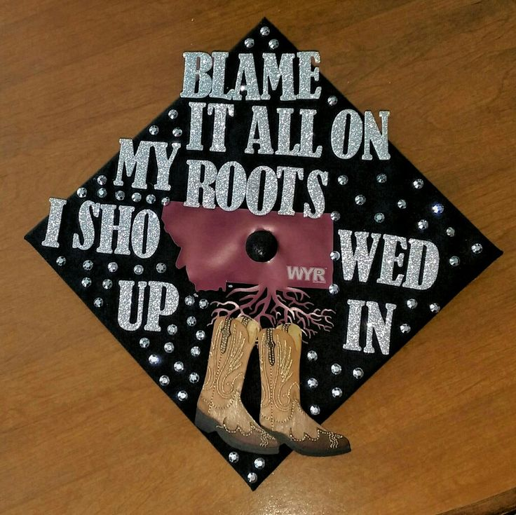 This is the cap I designed for my graduation | University of Montana | #graduation #graduationcapdesign #uofm #college #country #wearyourroots #garthbrooks
