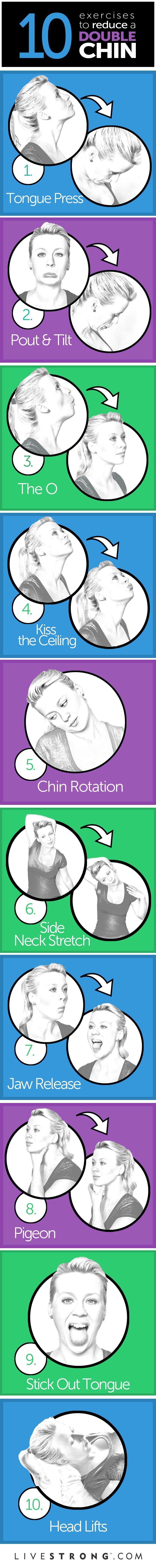 10 great exercises to tone your neck and chin #exercisetips http://www.zhounutrition.com/
