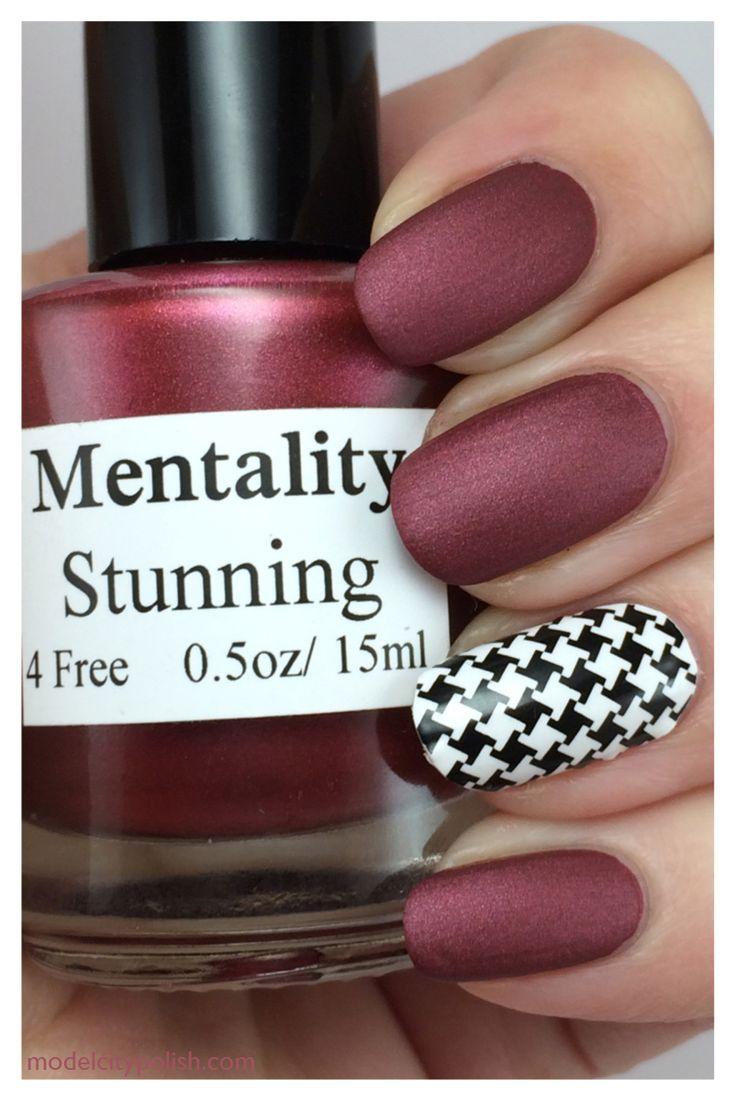 Mentality Nail Polish - Stunning. Stamp by Model City Polish.