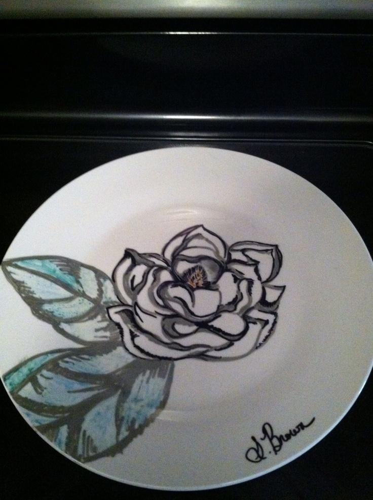 Magnolia Sharpie plate.