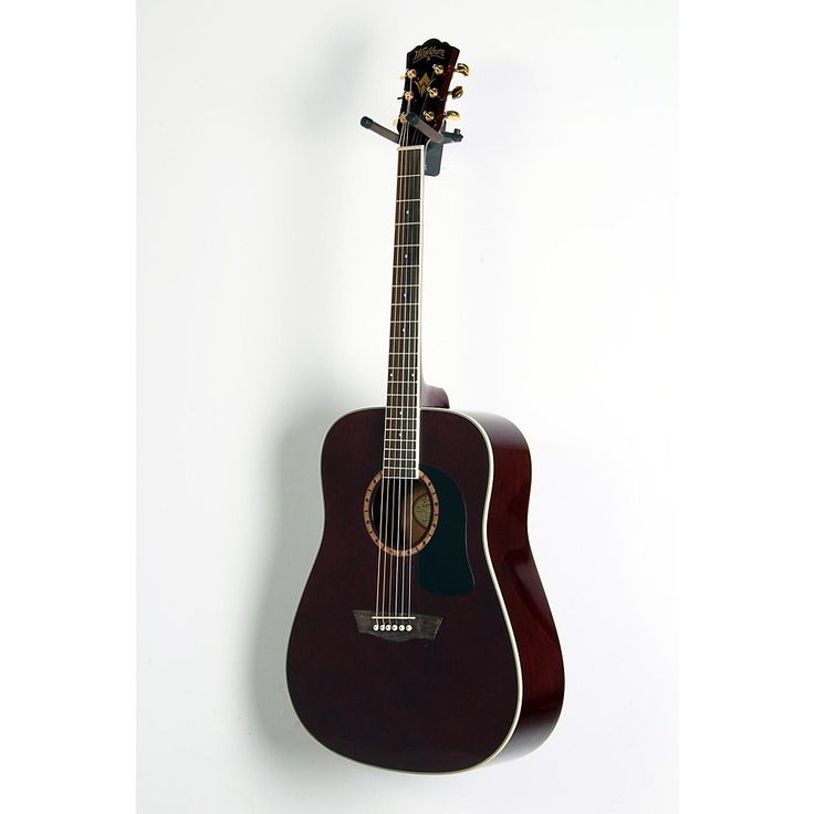 Washburn WD100DL Dreadnought Mahogany Acoustic Guitar Transparent Wine Red 190839084279