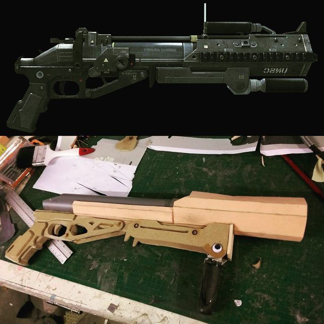 Co2 powered m319 launcher coming along nicely! #halo #haloreach #halo5 #emile #rememberreach #masterchief #microsoft #bungie #343industries #343i #xbox #xbox360 #xboxone #co2 #co2gun #evafoam #mdf #wood #scrollsaw #cosplay #cosplayer #props #405th #therpf