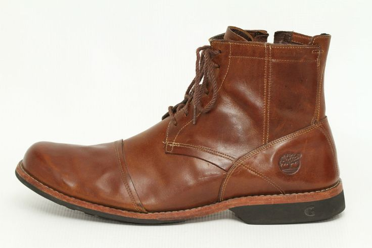 Timberland Men's Earthkeepers City 6-Inch Zip Boots Burnished Tan 19558 # Timberland #Boots | Slater's Closet | Pinterest | Timberland