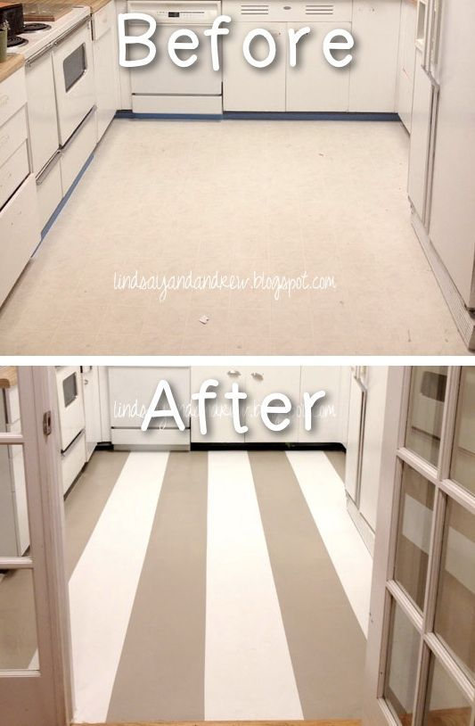 #24. Paint your linoleum floors! Yes, you can do that! -- 27 Easy Remodeling Projects That Will Completely Transform Your Home