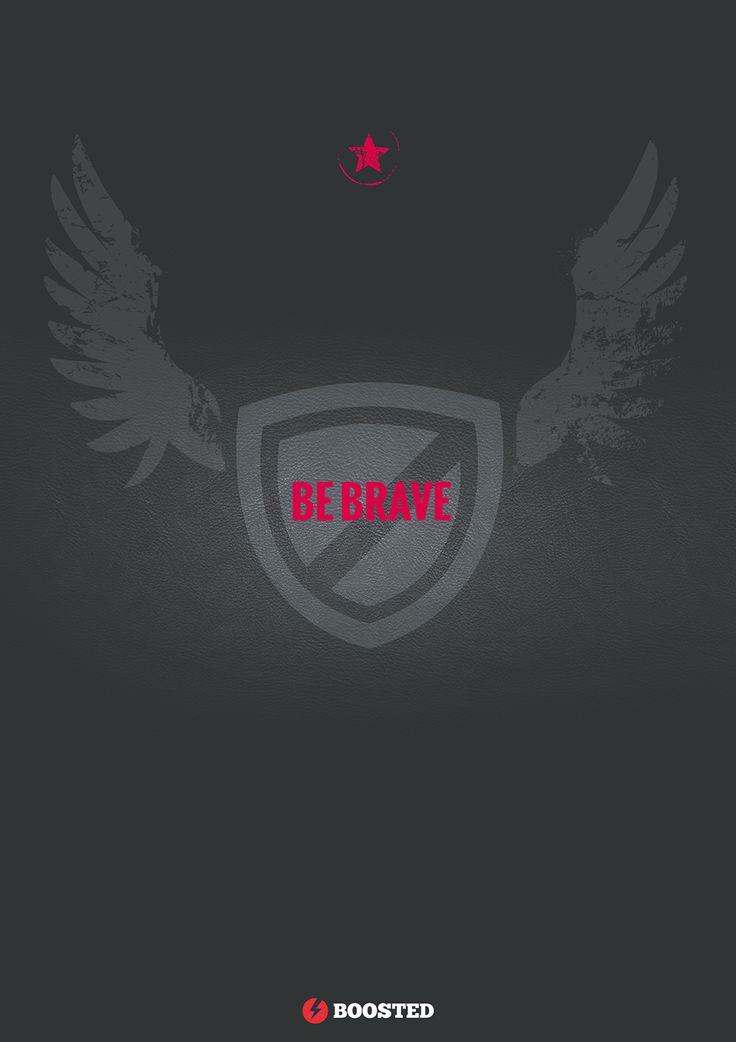 Motivační plakát Buď odvážný (Anglicky)