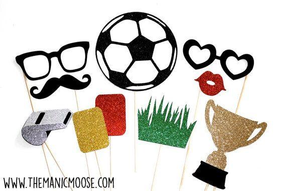 Fútbol foto stand Prop  Set de 10 piezas  por TheManicMoose en Etsy