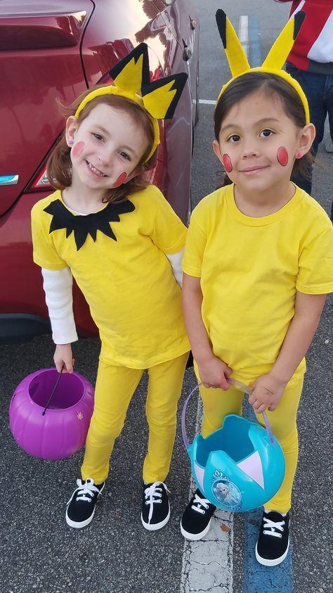 Diy Pokemon Costumes Pichu And Pikachu Fasching In 2019 Pikachu