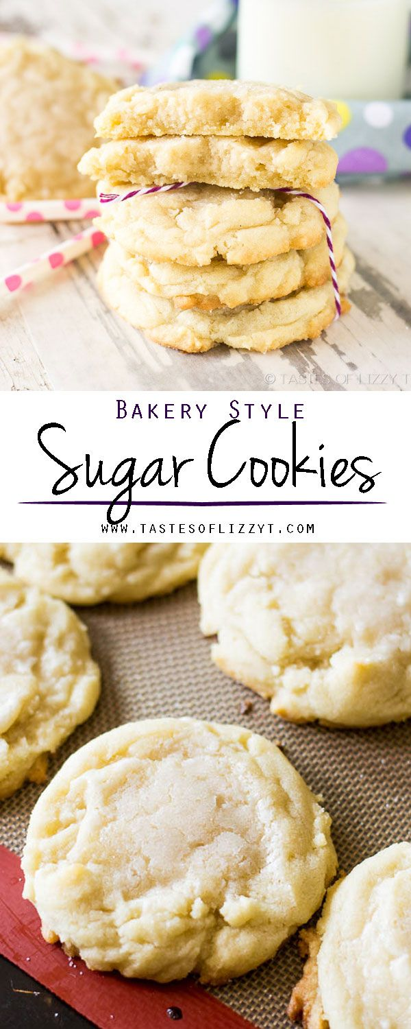 BAKERY STYLE SUGAR COOKIES I on MyRecipeMagic.com. Hints on how to get the thickest, softest, bakery style sugar cookies. It's the best sugar cookie recipe around!