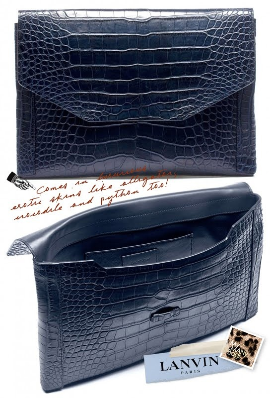 Lanvin clutch (from the boys)