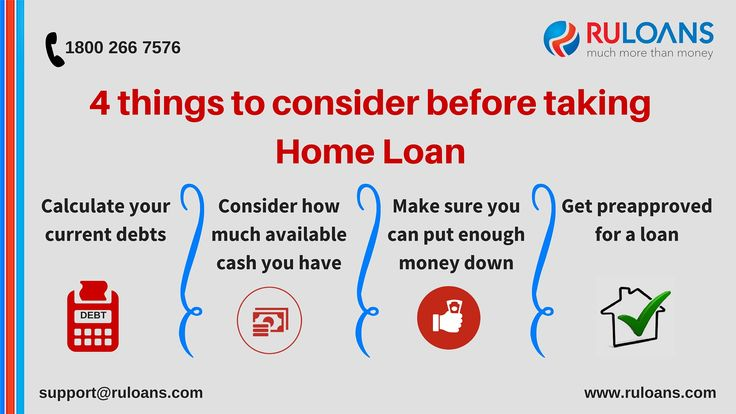 4 things to consider before taking home loan