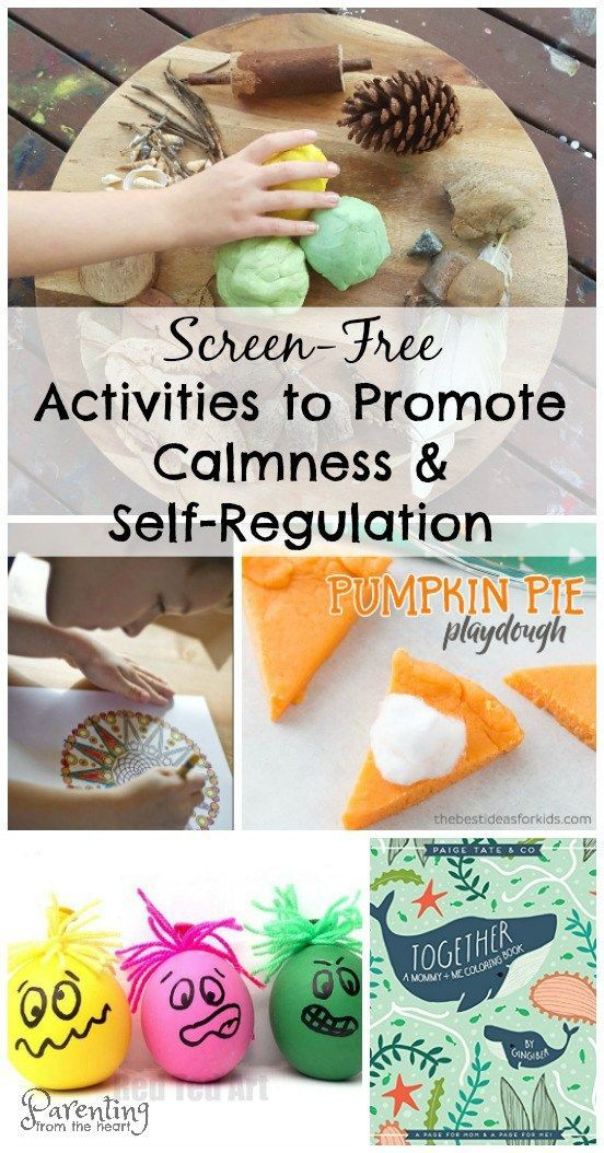 Calming activities to promote self-regulation after a busy day at school. Great for play-based learning too.