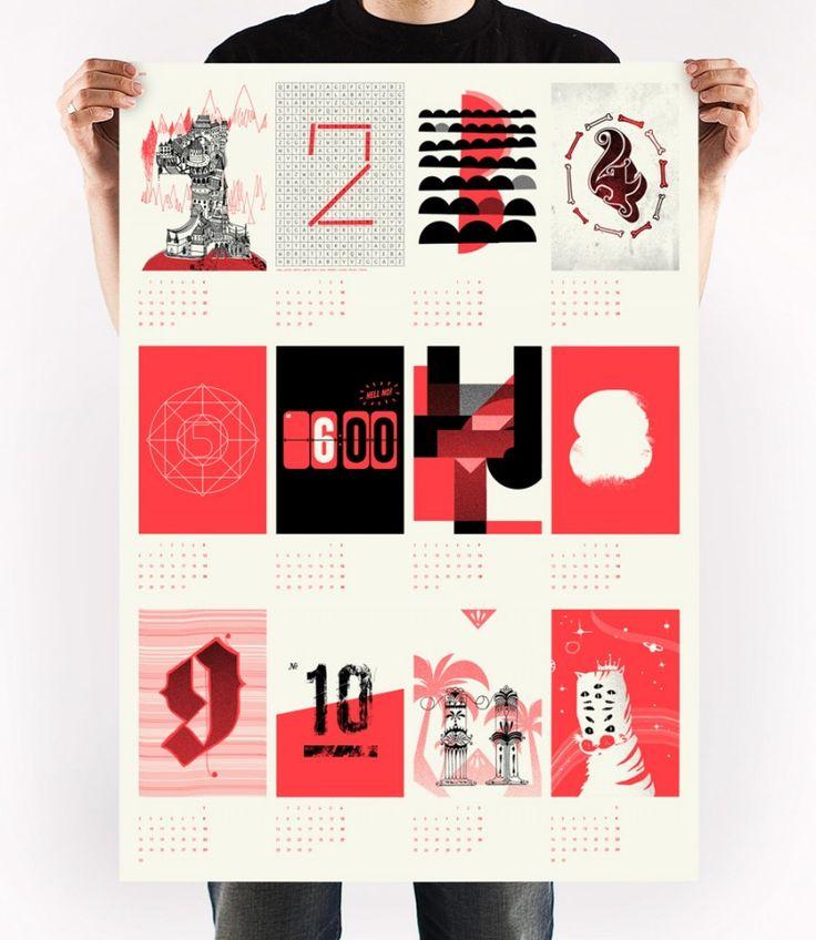 I love you, let's have paper children in neon orange (pantone 805) - Upstruct Kalender 2013