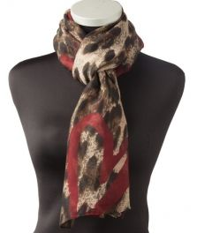 Lundorf Karla scarf polyester with hearts 180x108 cm.
