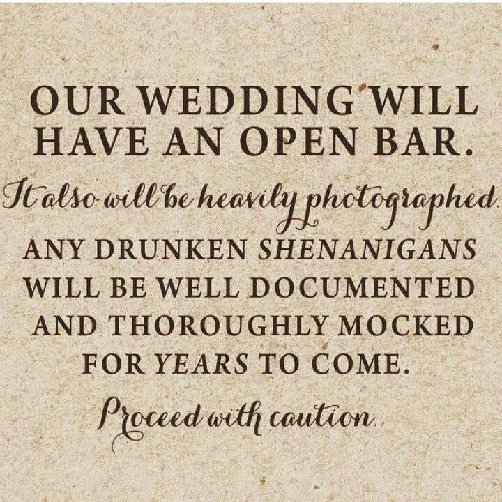 Fun Wedding Bar Sign Weddings Signage Pinterest