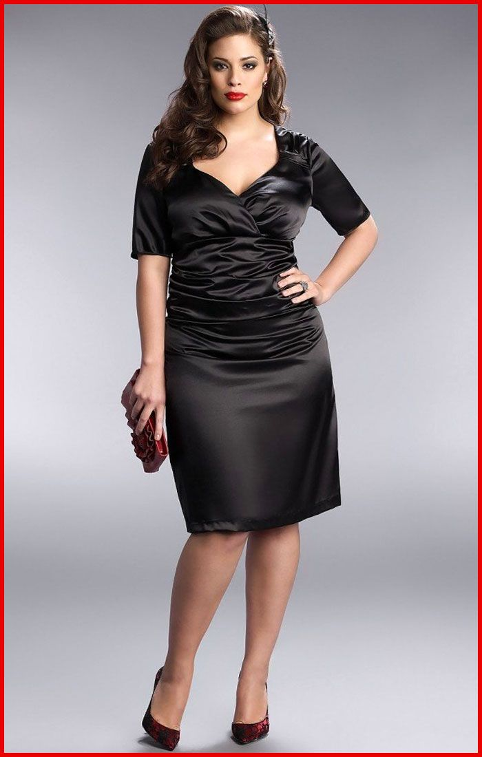 Satin Black Dress - RP Dress