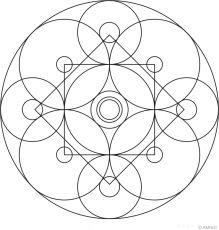 Free mandalas coloring > Circular Mandalas > Circular Mandala Design 8