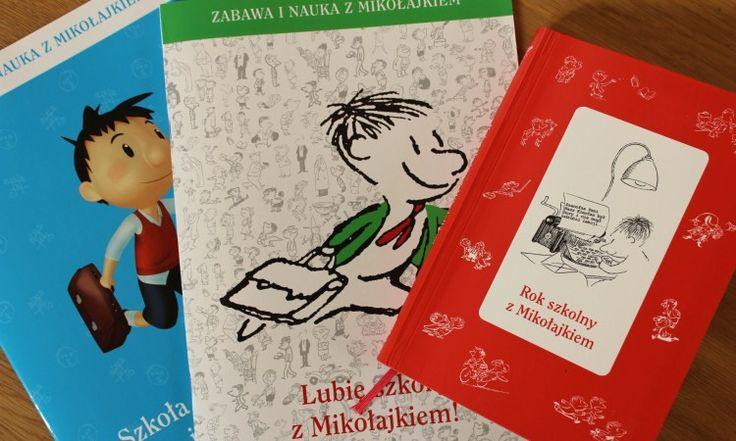 Kalendarz szkolny i dwa zeszyty z ćwiczeniami i zadaniami z Mikołajkiem <3