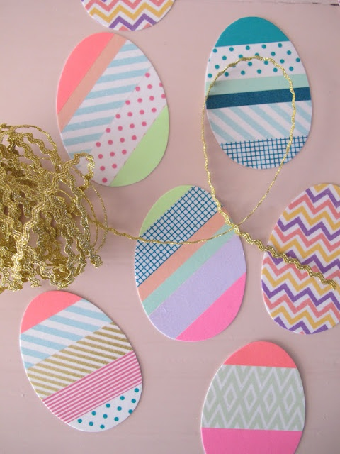 Oeufs de Pâques en masking tape