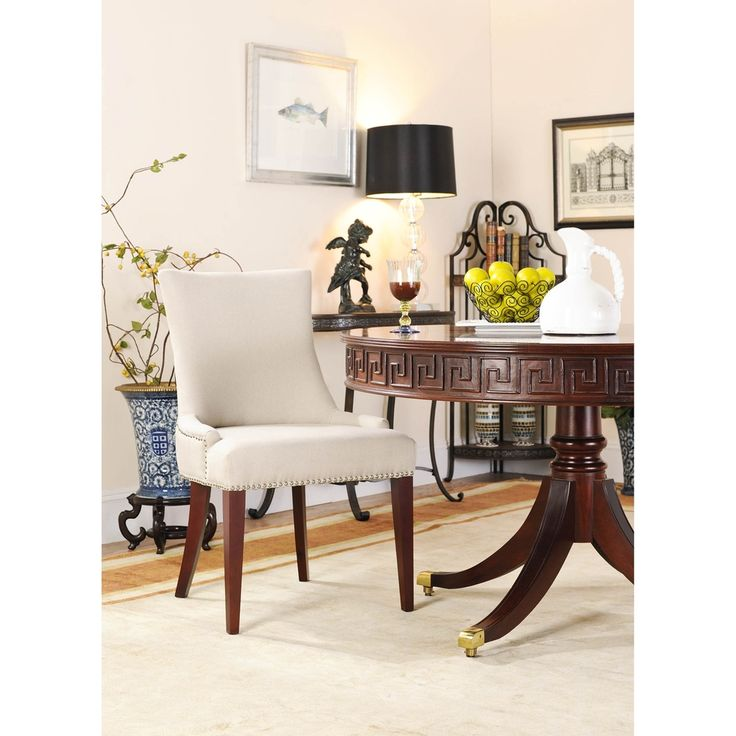 Elegant Becca Linen Dining Chair | Overstock.com Shopping   Great Deals On Safavieh  Dining Chairs