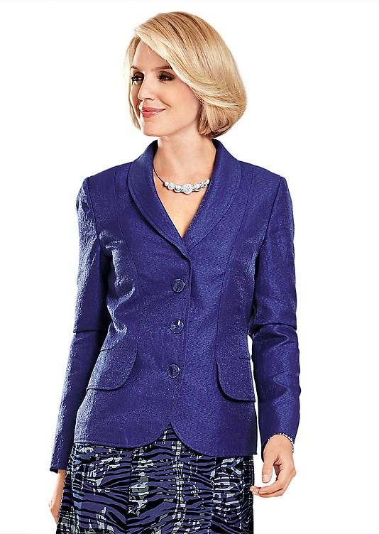 Blazer violet et bleu - atelier gabrielle seillance