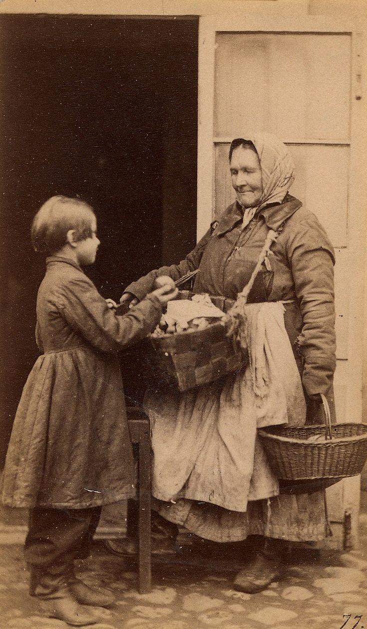 William Carrick (Вильям Андреевич Каррик 1827-1878): Babushka selling apples to a child,
