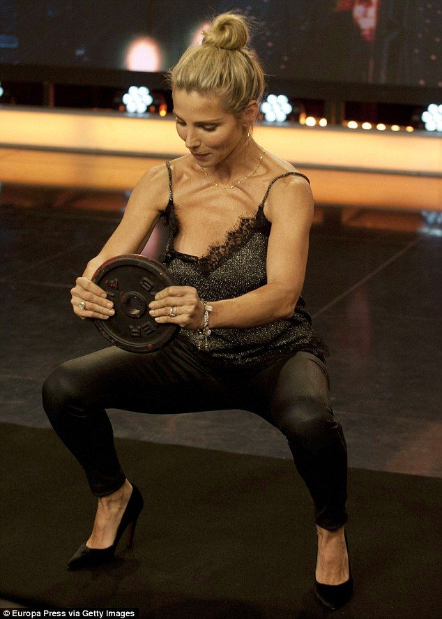This is how you do it! Elsa Pataky gave fans an insight into her rigorous exercise regimen while appearing on Madrid based chat show El Hormiguero on Wednesday evening