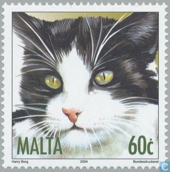 Postage Stamps - Malta - Cats