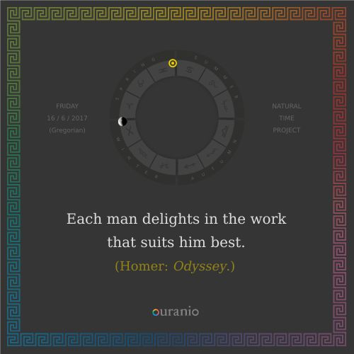 Ouranio.com | Daily quote: Homer, «Each man...»