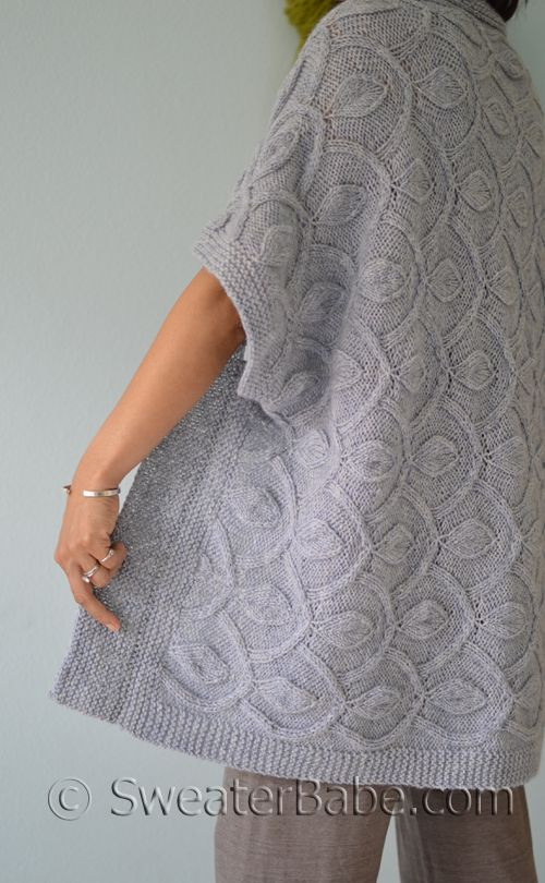 PDF Knitting Pattern BUNDLE: Hamachi Cardigan + Pendants Blanket from SweaterBabe.com