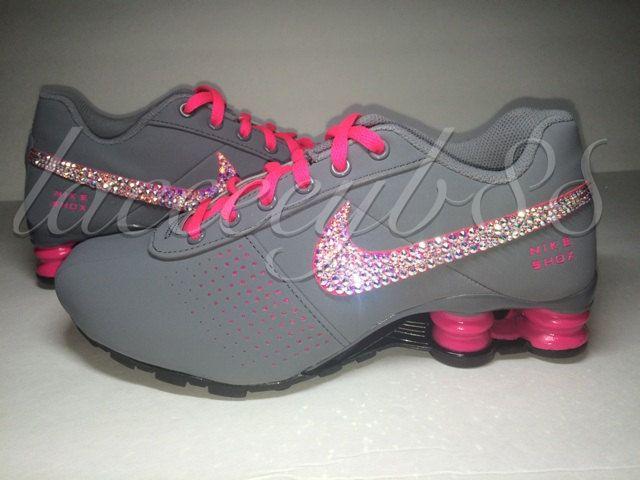 Bling Swarovski Nike Shox Deliver-Girls by laceeeyb88 on Etsy