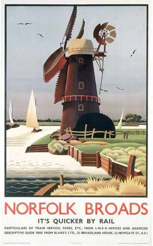 Norfolk Broads - Windmill by National Railway Museum