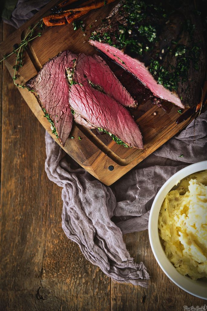 Herb Rubbed Top Round Roast Beef