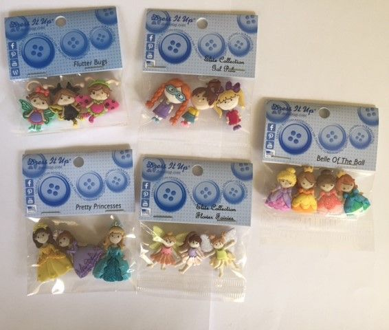 Little Girl button bundle 5 packets of buttons  $30 (inc postage)