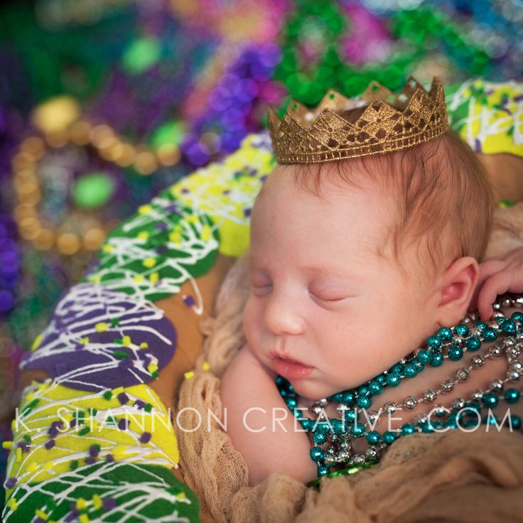 We found the baby in the King Cake! Newborn portraits by www.kshannoncreative.com League City, TX