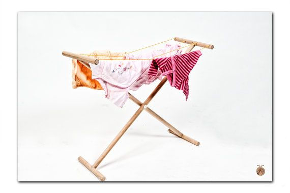 Kids wooden clothes Drying Rack  Kids wooden Art by beigebois, €16.00