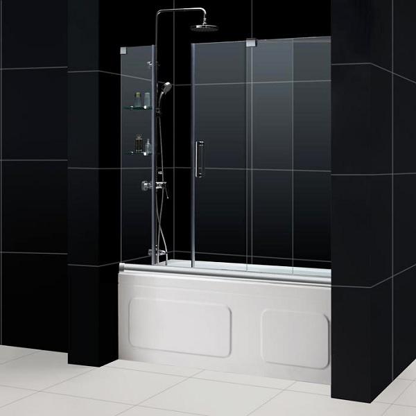 Bathroom    Mirage Frameless Sliding Shower Door With Height And Soaker Tub  Shower Combo13 best Shower Doors images on Pinterest   Bathroom ideas  . Tub Shower Combo Glass Doors. Home Design Ideas