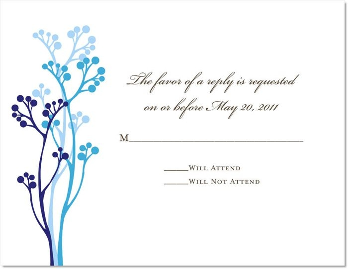 Budding Blue Reply Cards On Shimmer Stock