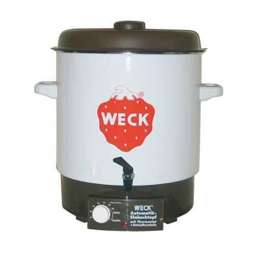 Weck WAT 14A Einkochautomat 2000 Watt mit Hahn, ohne Uhr, Emaille, 230V Weck http://www.amazon.de/dp/B0010VSUR8/ref=cm_sw_r_pi_dp_Fc7Tvb07HZAG5