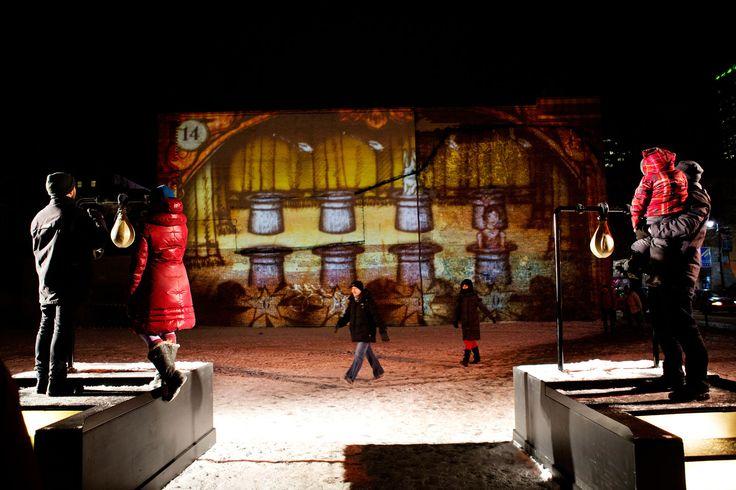 Fascinoscope - Les jeux interactifs ''Les Arcades'', au Métro Saint-Laurent. Conception: Lüz Studio, crédit: Cindy Boyce.