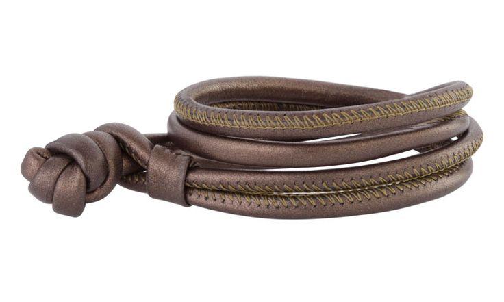 Joy de la Luz | Leather bracelet bronze