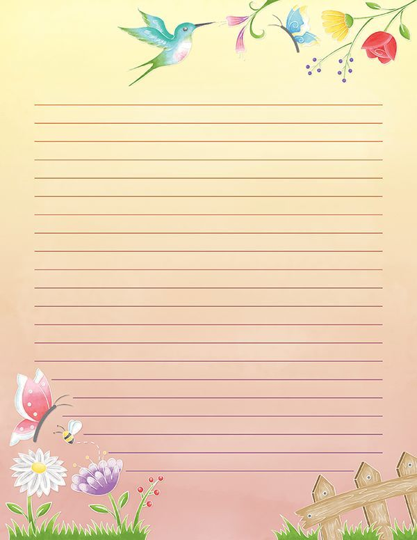 This is a picture of Printable Stationery intended for school