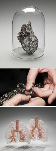 Crocheted Wire Anatomy by Anne Mondro