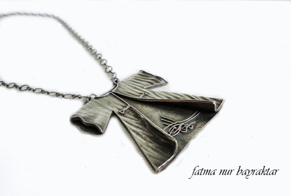 Robe of Righteousness Fine Silver Necklace by FNB