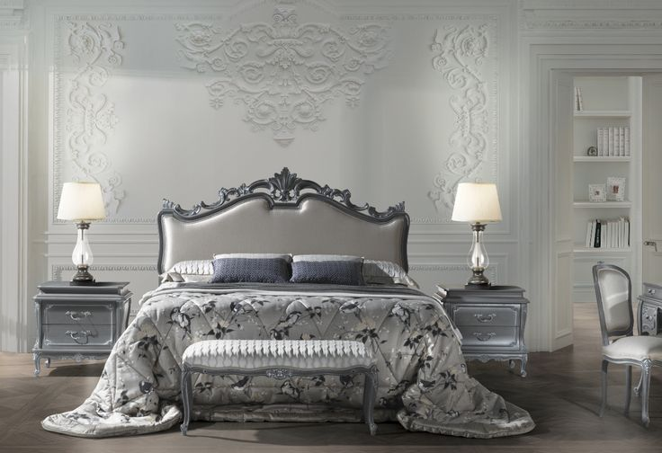 Art. 7610 Bed & Art. 7611 Bedsides made in Italy by Angelo Cappellini. Available exclusively at Sarsfield Brooke Ltd.