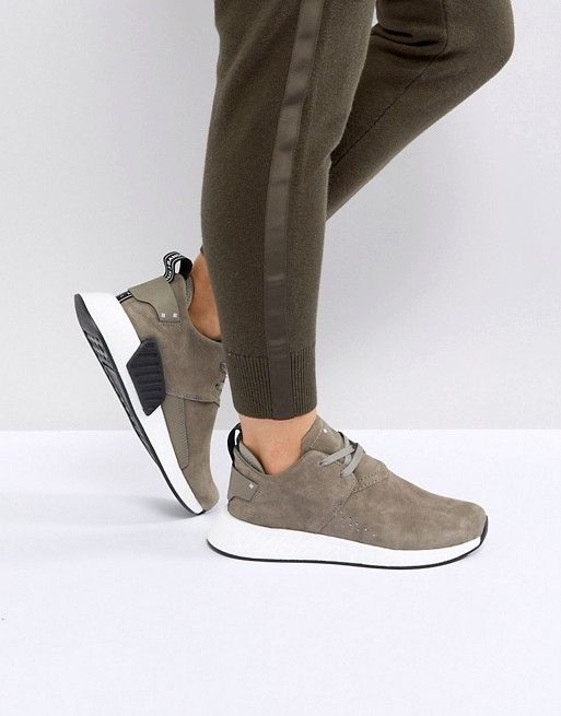 35558e996 adidas Originals NMD C2 Sneakers In Taupe Suede